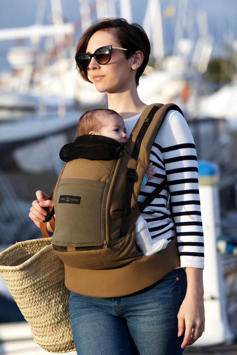 Kangura portanadons Motxilla Physio Carrier de Love Radius Safari pocket Dark Olive