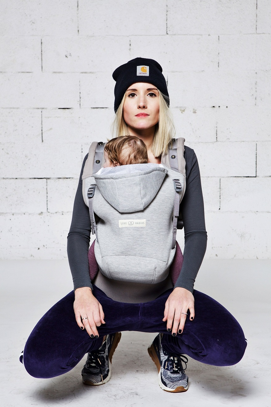 Kangura portanadons Motxilla Hoodie Carrier de Love Radius Athletic Grey