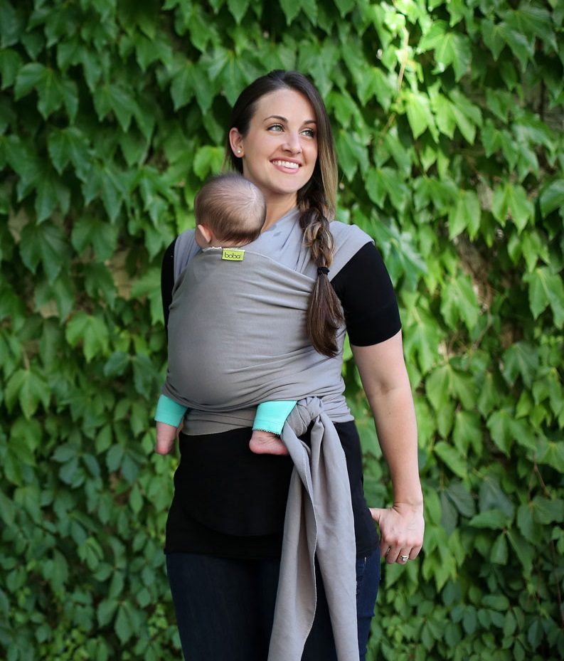 Fular elástico portabebé Boba Wrap Gray - Kangura.com - Portabebés ... 2a42e214231